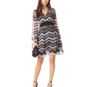Diane Von Furstenberg Lizbeth Silk Dress Sz 12